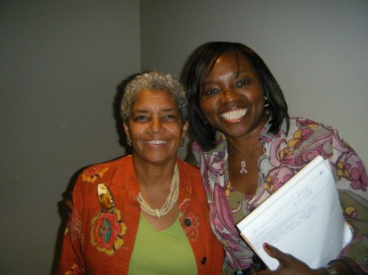 Mayor Shirley Franklin with Frances Ohanenye