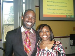 Kayongo with Frances Ohanenye at Kennesaw State Uni @FrancesOhanenye