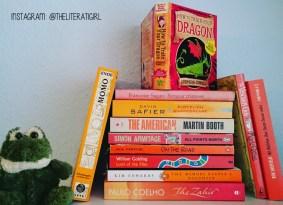 Books of Colour: Orange #shelfie #bookstagram @theliteratigirl