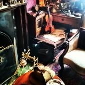 Inside 221b Baker Street's sitting room at the Sherlock Holmes Museum. #sherlock ©studyreadwrite