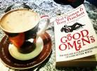 Hot chocolate and a great book #saturday #booklover #neilgaiman #goodomens #bookstagram ©theliteratigirl