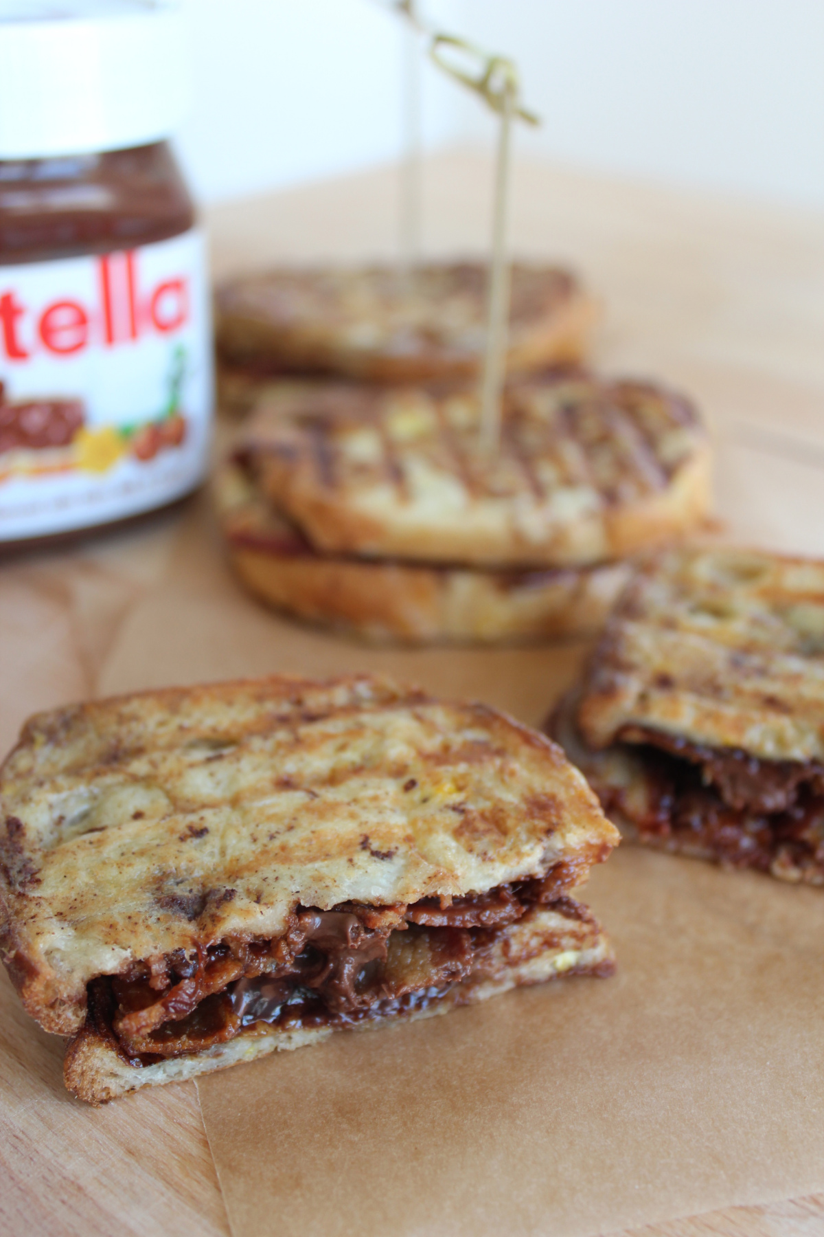 Geoduck's Maggie imagines: Nutella Bacon French Toast Panini