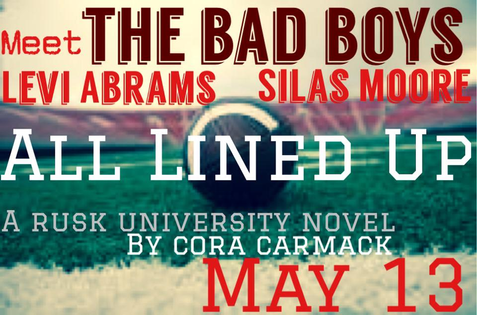 Football Friday!!! Meet the Bad Boys of All Lined Up by Cora Carmack + ARC Giveaway!