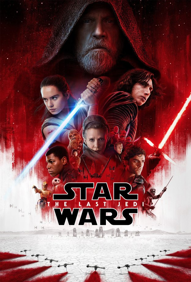 "Poster for the movie ""Star Wars: The Last Jedi"""