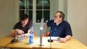 Adrian Kasnitz und Patrick Wilden im Literaturforum Dresden. Foto: (c) C. Danne