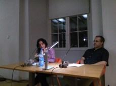 Lütfiy Güzel und Patrick Wilden im Literaturforum Dresden. Foto: (c) A. Kasnitz