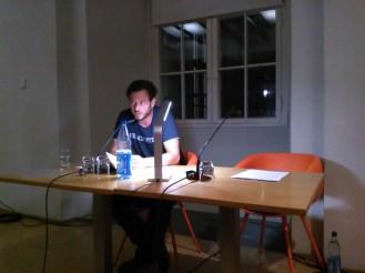 Christoph Danne im Literaturforum Dresden. Foto: (c) A. Kasnitz