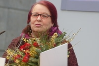 Natascha Wodin bei der Preisverleihung zum Leipziger Buchpreis 2017 für Sie kam aus Mariupol