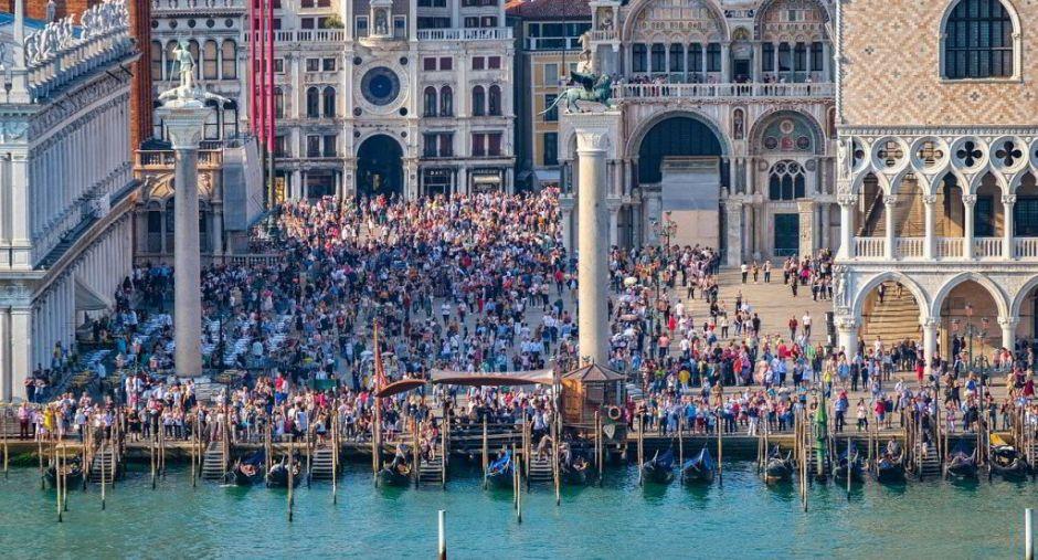 Menschenmassen in Venedig