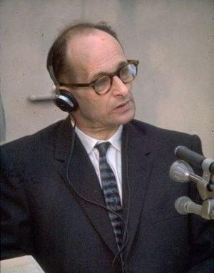 Adolf Eichmann beimProzess