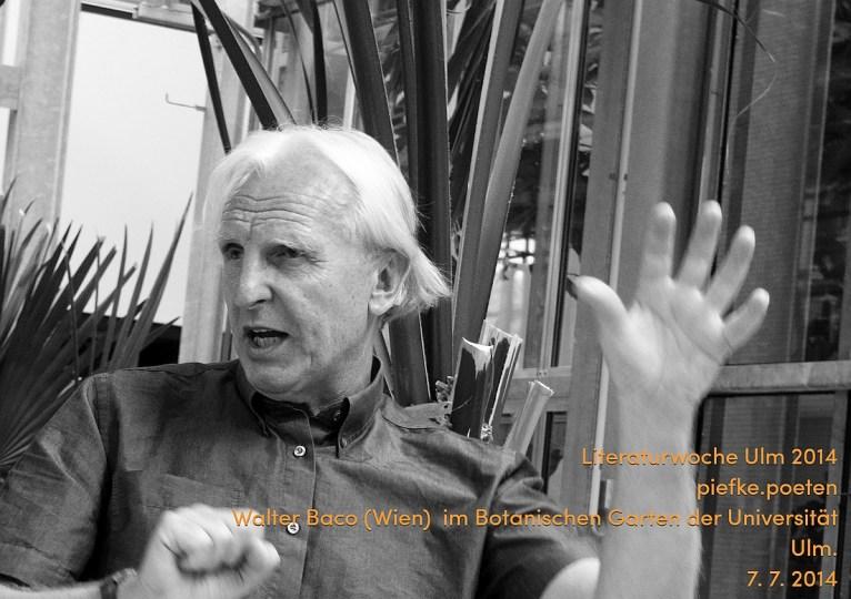 """Walter Baco als """"Piefke Poet"""" - 7. 7. 2014."""