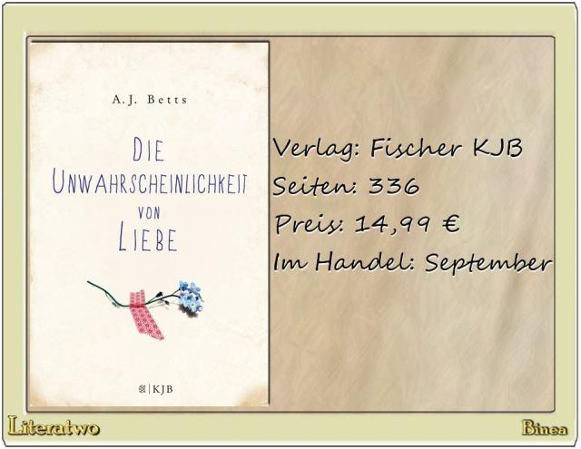 Literatwo: Die Unwahrscheinlichkeit von Liebe ~ A. J. Betts