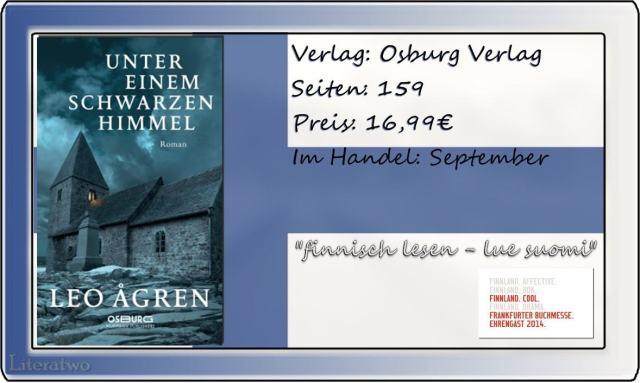 """Literatwo: """"Unter einem schwarzen Himmel"""" ~ Leo Agren"""