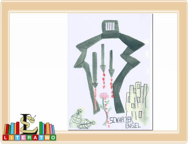 Schwarzer Engel (Zeichnung: Clara Luisa Demar)