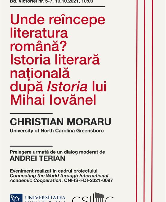 Unde reîncepe literatura română?
