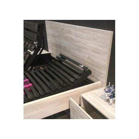 tete de lit kit decor bois 90x190