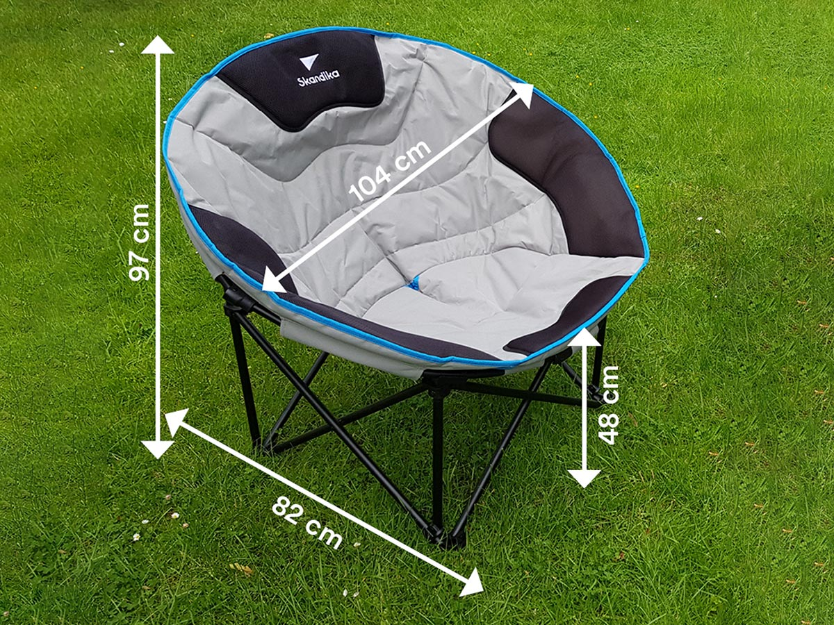 Deluxe Camping Chairs Skandika Moonchair Deluxe Camping Chair Portable Foldable