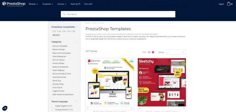 Prestashop templates (OpenCart vs PrestaShop)