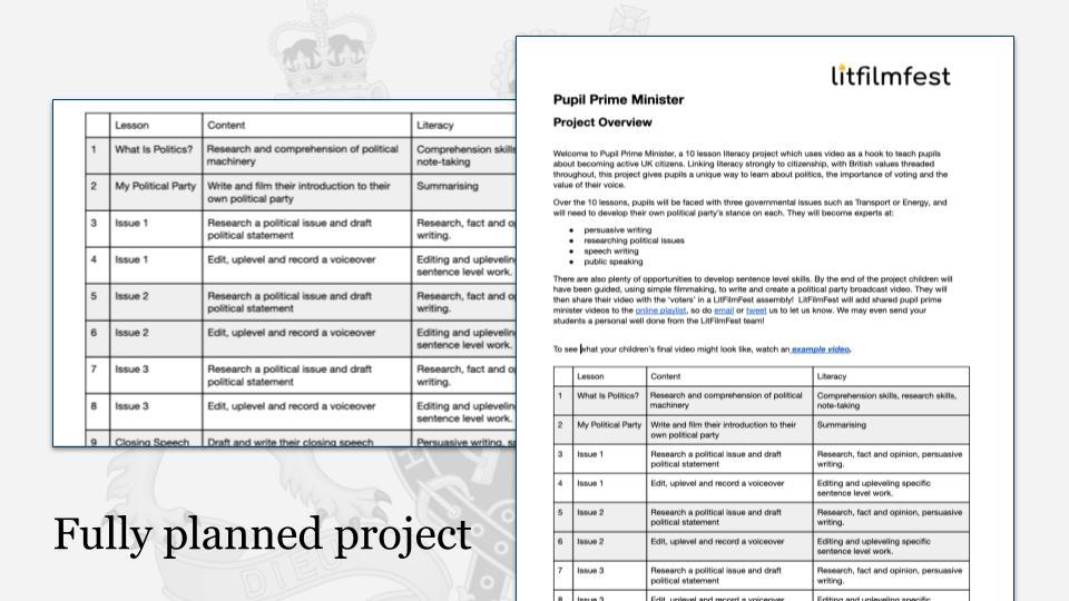 Pupil Prime Minister: KS2 English literacy resource