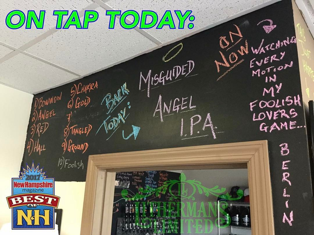 On tap tonight. #lithermans #nhbeer #concordNhbrewed #howmuchcanyoucarry #MHPlikes Slugs