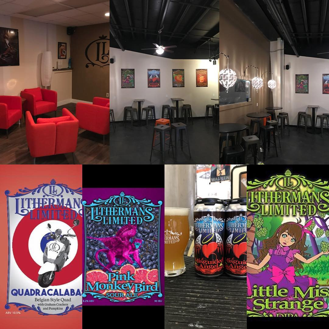 Today is the Grand Opening of our expanded tasting room! To kick it off we will have 8 beers on tap including a fresh batch of Little Miss Strange DIPA. We also have 40 cases of Misguided Angel IPA cans and 3 cases of 500ml bottles of our Quadracalabasia. Tasting room opens at 4 pm. #lithermanslimited #HowMuchCanYouCarry #concordNHbrewed #concordnh #misguidedangel #nhbeer