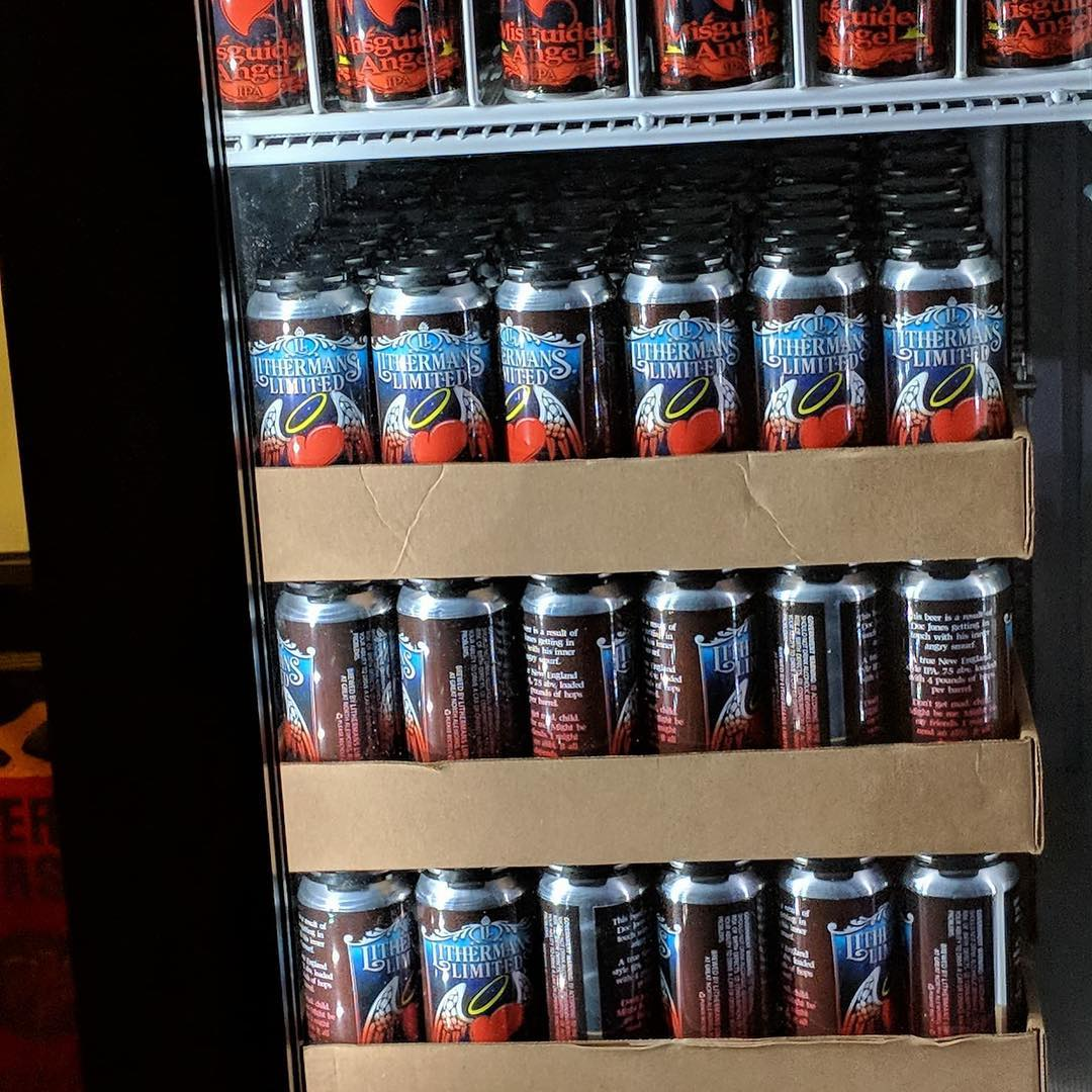 It's back! Cans of Misguided Angel go on sale in the tasting room starting at 4pm Thursday! #lithermanslimited #misguidedangel #nhbrewers