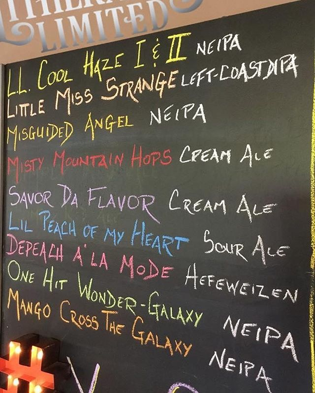 SURPRISE! DEPEACH A'LA MODE and ONE HIT WONDER – GALAXY are on (draft only) a day early, along with a tiny batch of a tropical IPA, MANGO CROSS THE GALAXY (today only). Cans of MISGUIDED ANGEL and LIL PEACH OF MY HEART are cold and waiting for you! 10 beers on tap! #HowMuchCanYouCarry?  #concordNHbrewed
