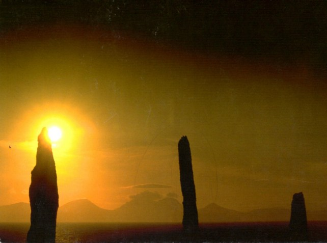 Postcard from Scotland Ballochroy, I liked the form of these standing stones