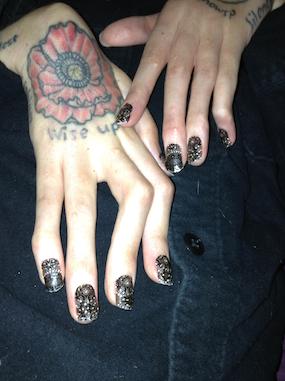 Swanky nails!