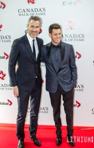 Michael Buble with Trevor Linden