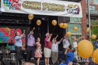 Balloon releasing ceramony