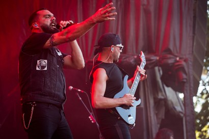 MONTREAL, QUE.: August 7, 2016-- Killswitch Engage perform during the second day of the 2016 Heavy Montreal festival at Parc Jean Drapeau on Sunday August 7, 2016. (Tim Snow / EVENKO MANDATORY CREDIT)