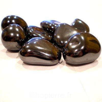 Pierres roulées d'hématite