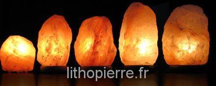 Plusieurs lampes de sel