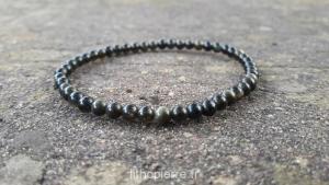 Bracelet en obsidienne bronze