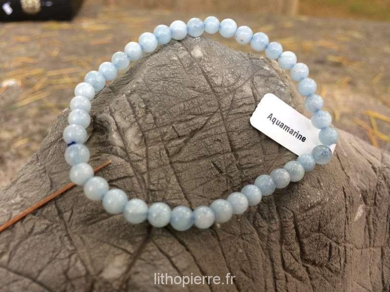 Bracelet en pierre rare en 4 mm