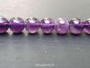 Perles en améthyste en 8mm