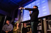 Garth Greenwell, Rosie Schaap, Sasha Fletcher, and Ryan Chapman during Literary Jeopardy