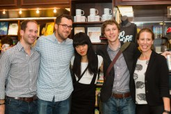Jonathan Lee, Ben Samuel, Tracy O'Neill, and Katie Freeman with a friend