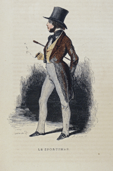 "Paul Gavarni, ""The Sportsman,"" (c. 1840)."