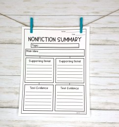 10 Graphic Organizers for Summary Writing   Literacy In Focus [ 2048 x 2048 Pixel ]