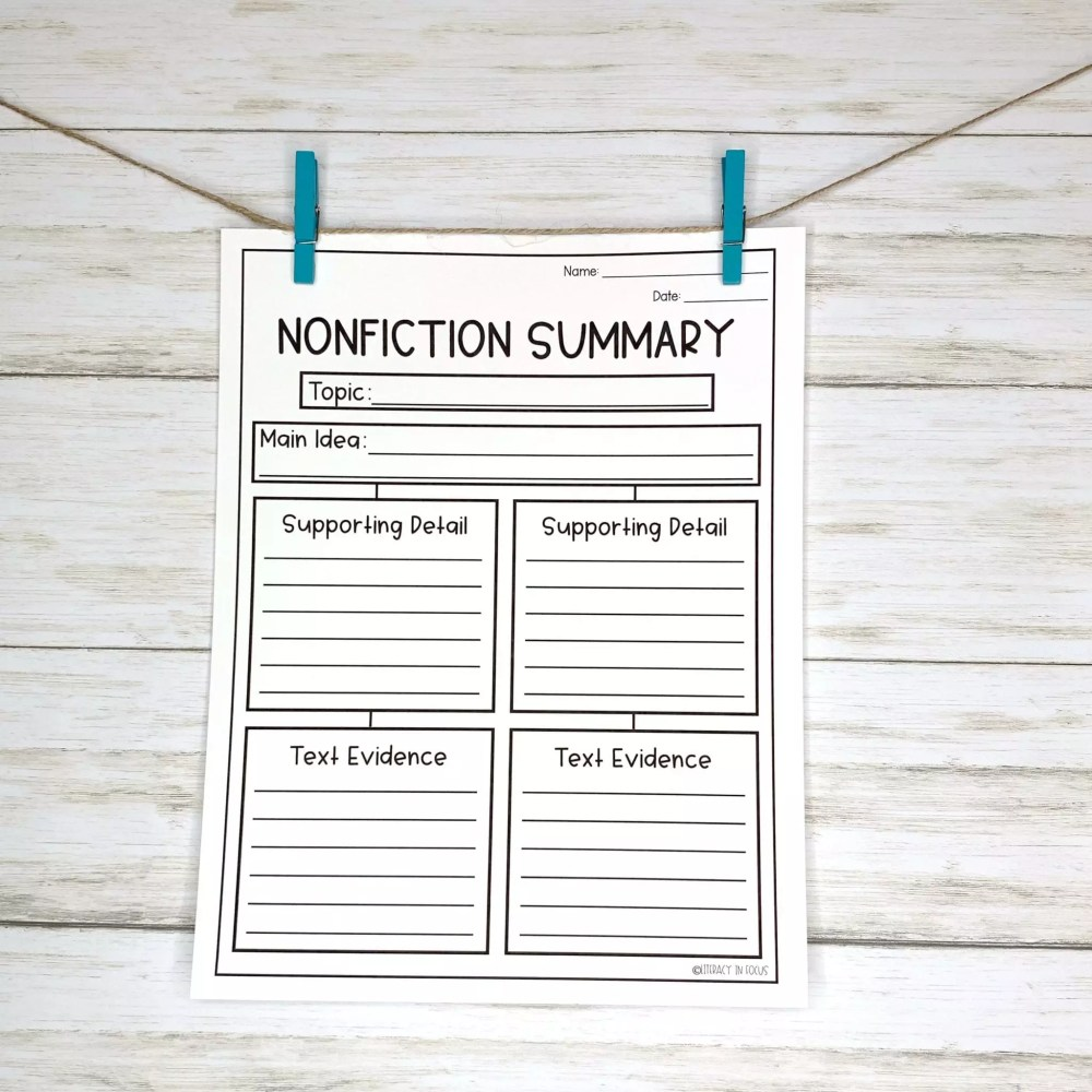 medium resolution of 10 Graphic Organizers for Summary Writing   Literacy In Focus