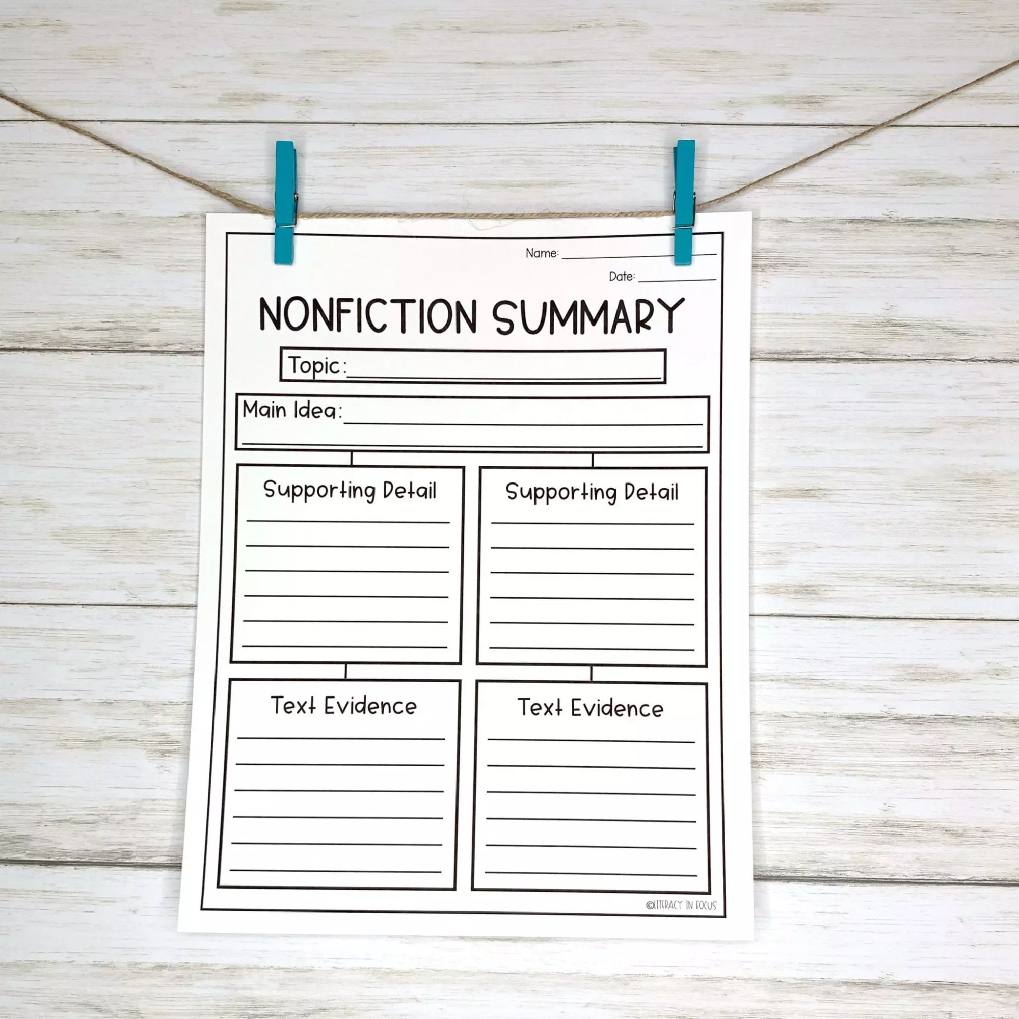 hight resolution of 10 Graphic Organizers for Summary Writing   Literacy In Focus
