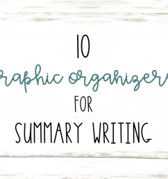 10 Graphic Organizers for Summary Writing   Literacy In Focus [ 986 x 1249 Pixel ]