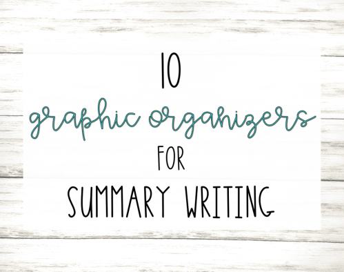 small resolution of 10 Graphic Organizers for Summary Writing   Literacy In Focus