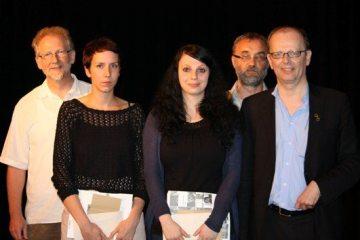 © LWL Die Sieger des Wettbewerbs: Ludger Haumann, Lara Sielmann, Stefanie Heim, Walter Wehner, Reinhard Jahn (v.l.)