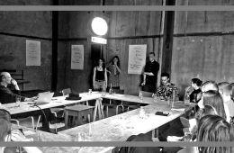 """Teilnehmende des Workshops von Guido Graf """"Lesen Roboter Ebooks?"""""""