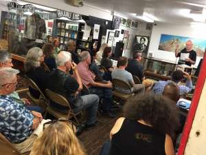 Terry Adams at 2016 Beat Museum Poetry Festival by Bob Booker