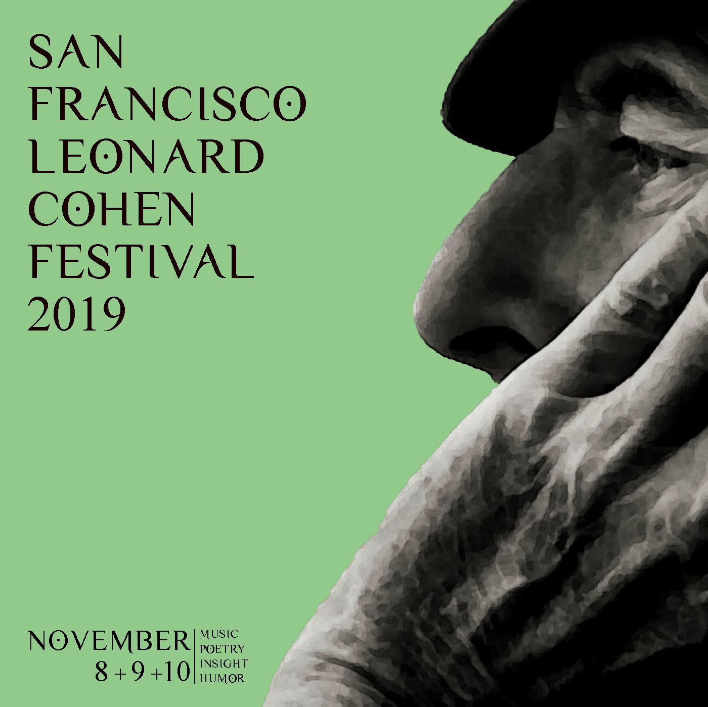 flier for the San Francisco Leonard Cohen Festival 2019