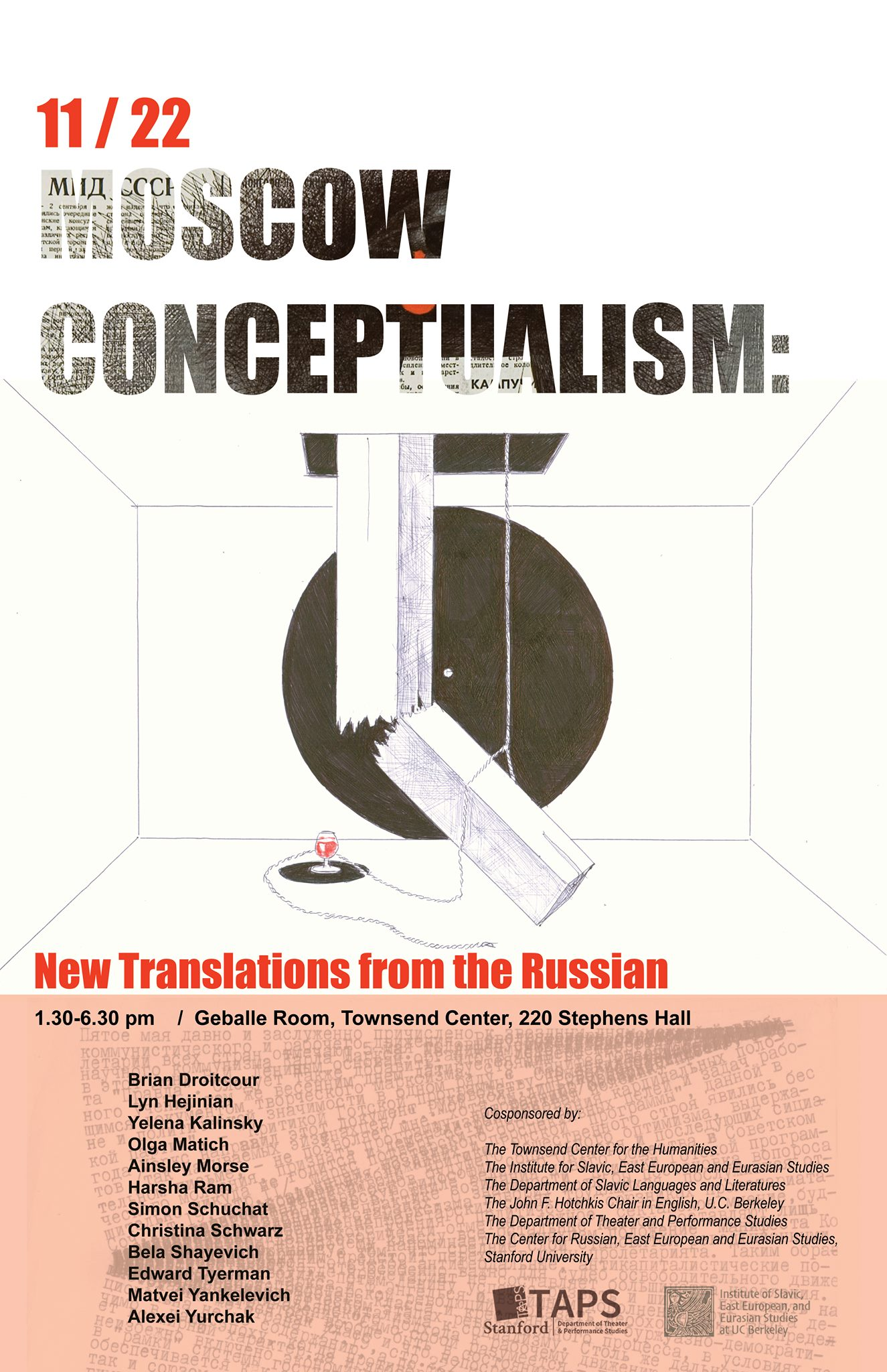 flier for Moscow Conceptualism